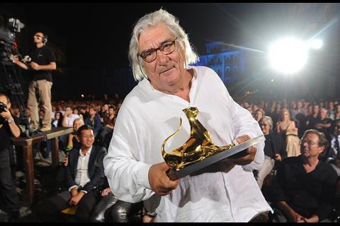 Jean-Claude Brisseau with his Golden Leopard